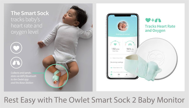 Rest Easy with The Owlet Smart Sock 2 Baby Monitor