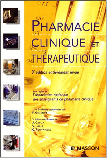 Livre : Pharmacie clinique et thérapeutique - Masson PDF