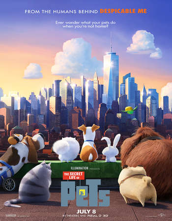 Poster Of The Secret Life of Pets 2016 English 700MB HDTS x264 Free Download Watch Online Worldfree4u