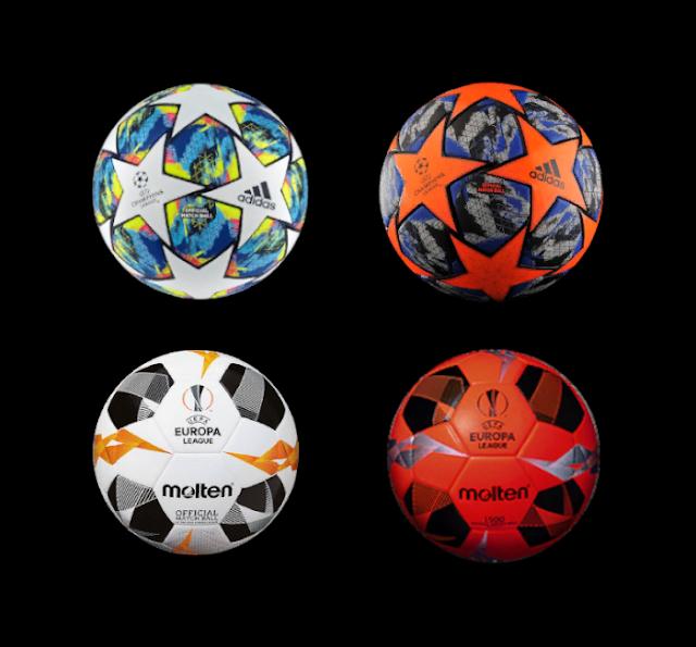Uefa Champions and Europa League Balls For Ballserver PES 2017