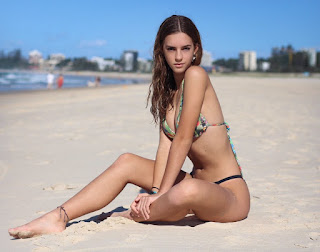 emily feld in green bikini 4