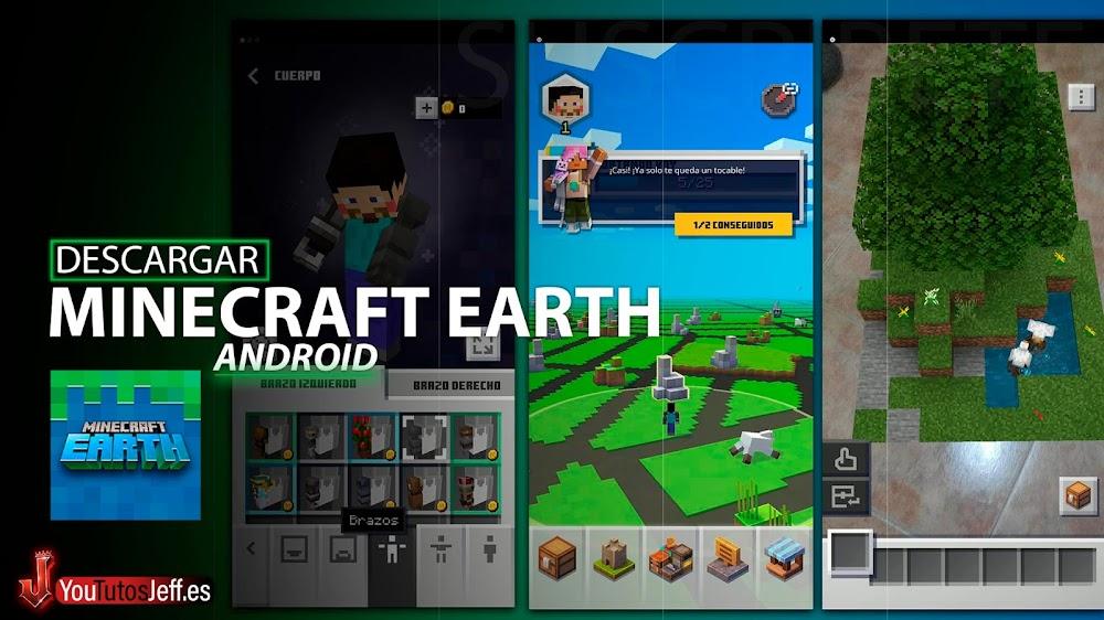 Como Descargar Minecraft Earth Android😱🔥