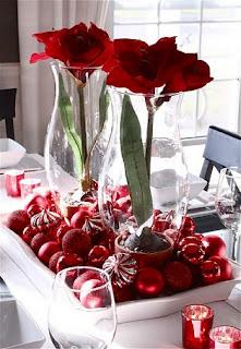 mesa de navidad roja