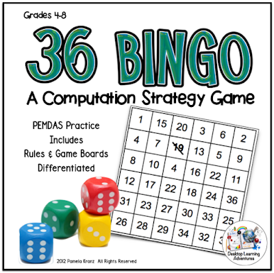 36 BINGO Computation Strategy Game