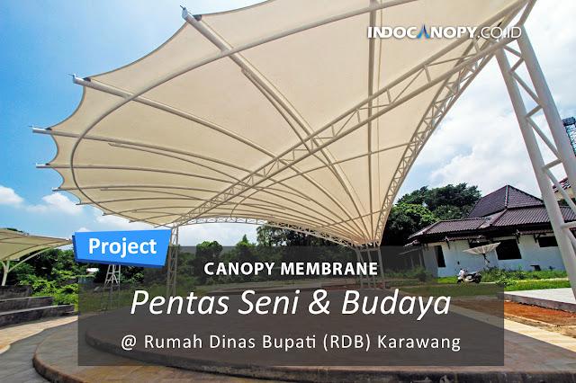 canopy membrane di rumah dinas bupati karawang