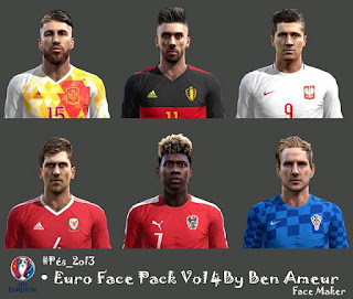 Euro Face Pack Vol 4 Pes 2013 By Ben Ameur