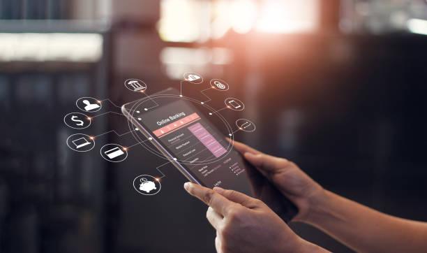 Ilustrasi perbankan digital di Indonesia