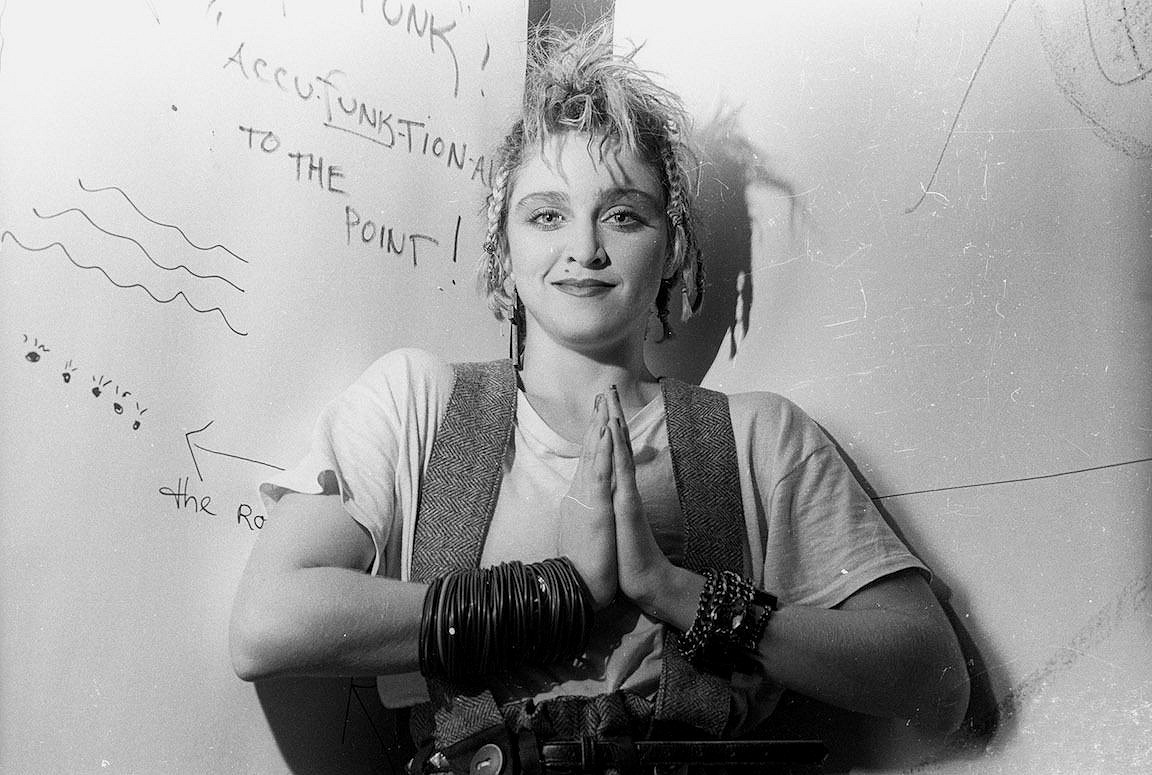 2c0c946f8b26 Madonna Photographed by Eric Kroll Backstage at Danceteria