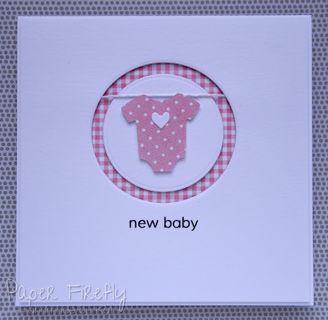 CAS new baby girl card
