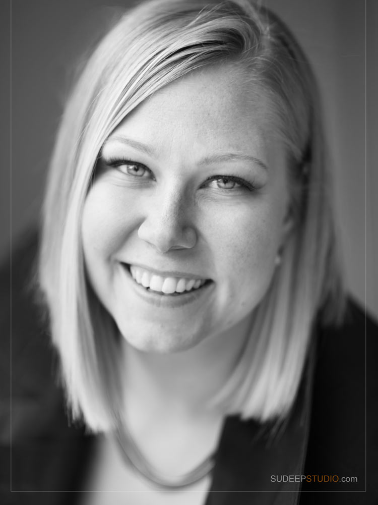 Black and White Professional Business Headshots - Sudeep Studio Ann Arbor Headshot Photographer