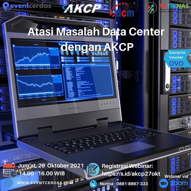 Webinar ATASI MASALAH DATA CENTER DENGAN AKCP - 29 Okt 2021