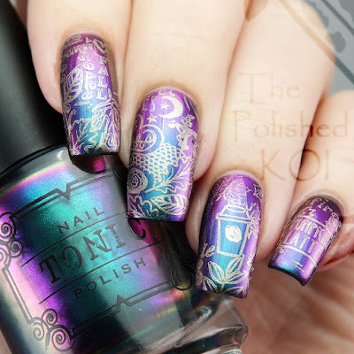 Tonic Polish Peacock Parade fall nail art