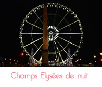 Champs Elysées de nuit