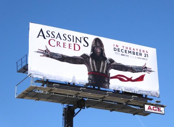 Assassins Creed movie billboard