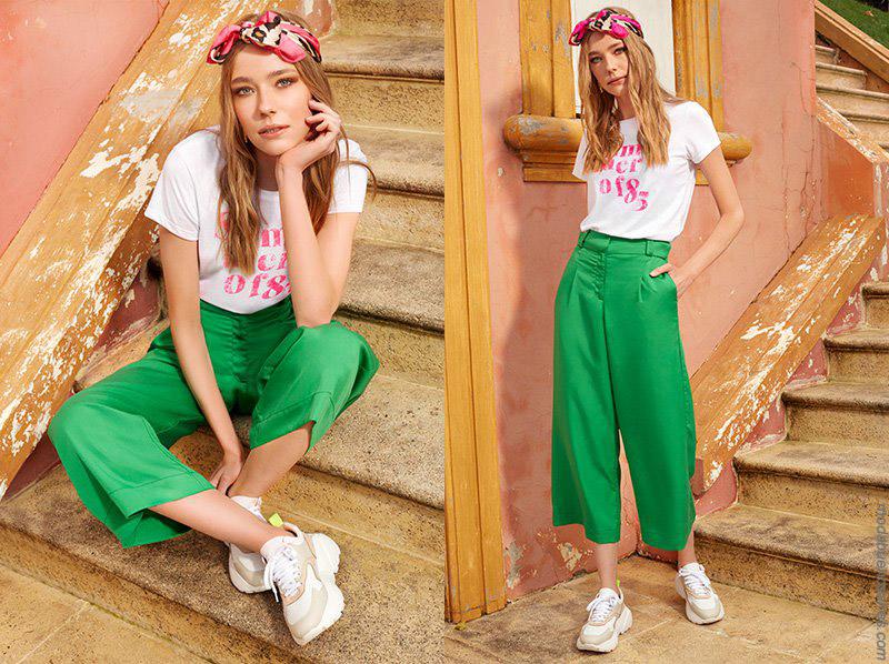 Pantalones capri primavera verano 2020. Moda 2020 primavera verano.