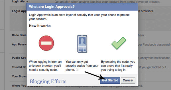 Activate Facebook Login Approval Code
