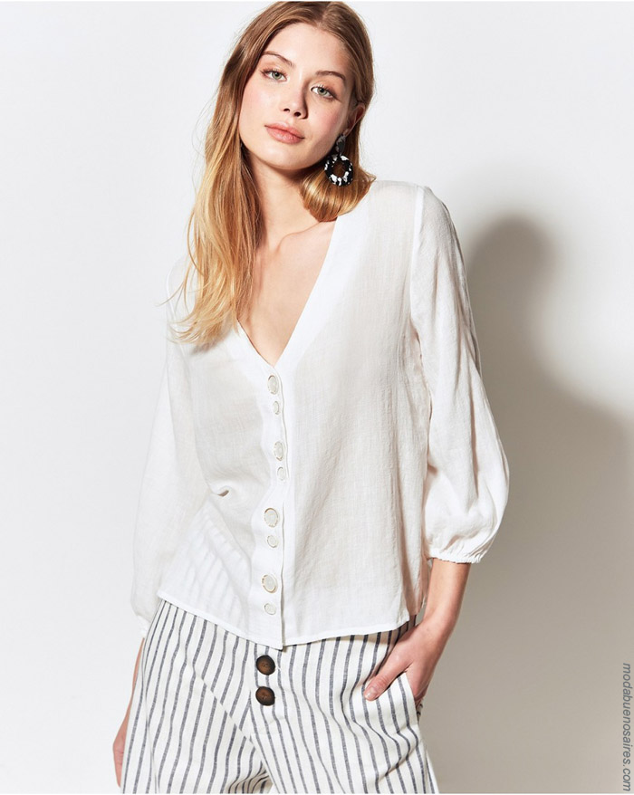 Blusas de moda primavera verano 2020 moda mujer.
