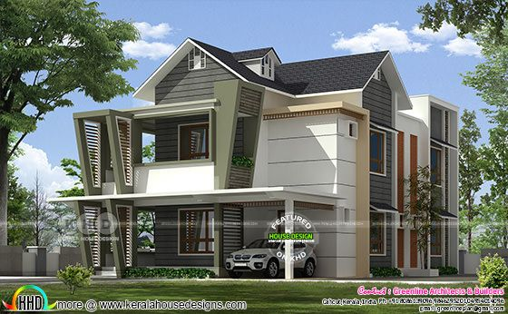 4 bedroom modern style 2640 square feet house