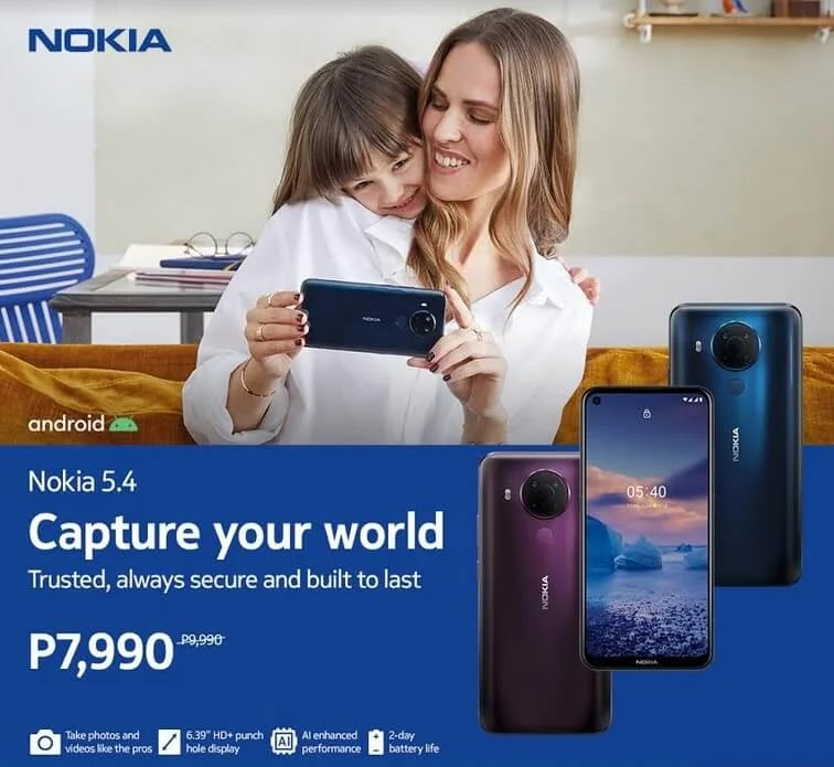 PRICE DROP ALERT: Nokia 5.4 with 48MP Quad Cameras and Snapdragon 662 now Only Php7,990