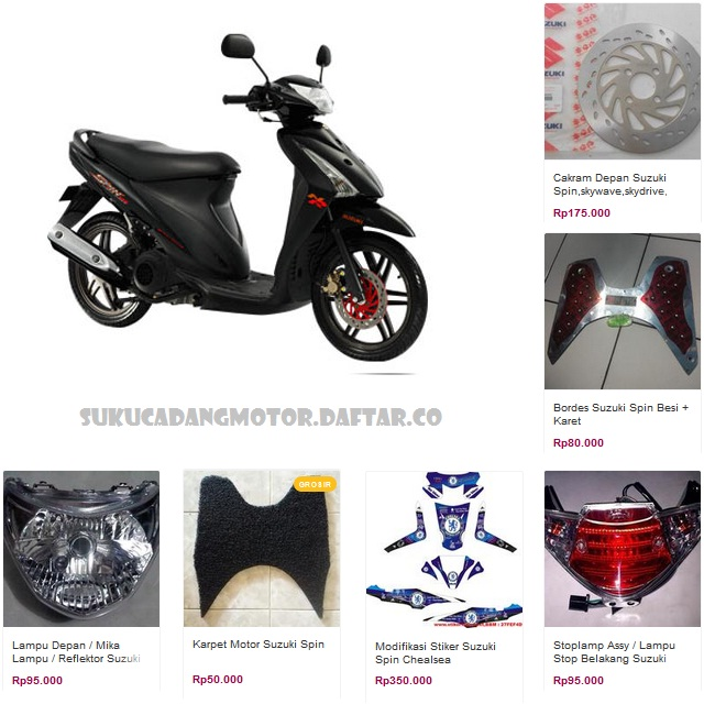 Katalog Spare Part Accessories Suzuki Spin 125