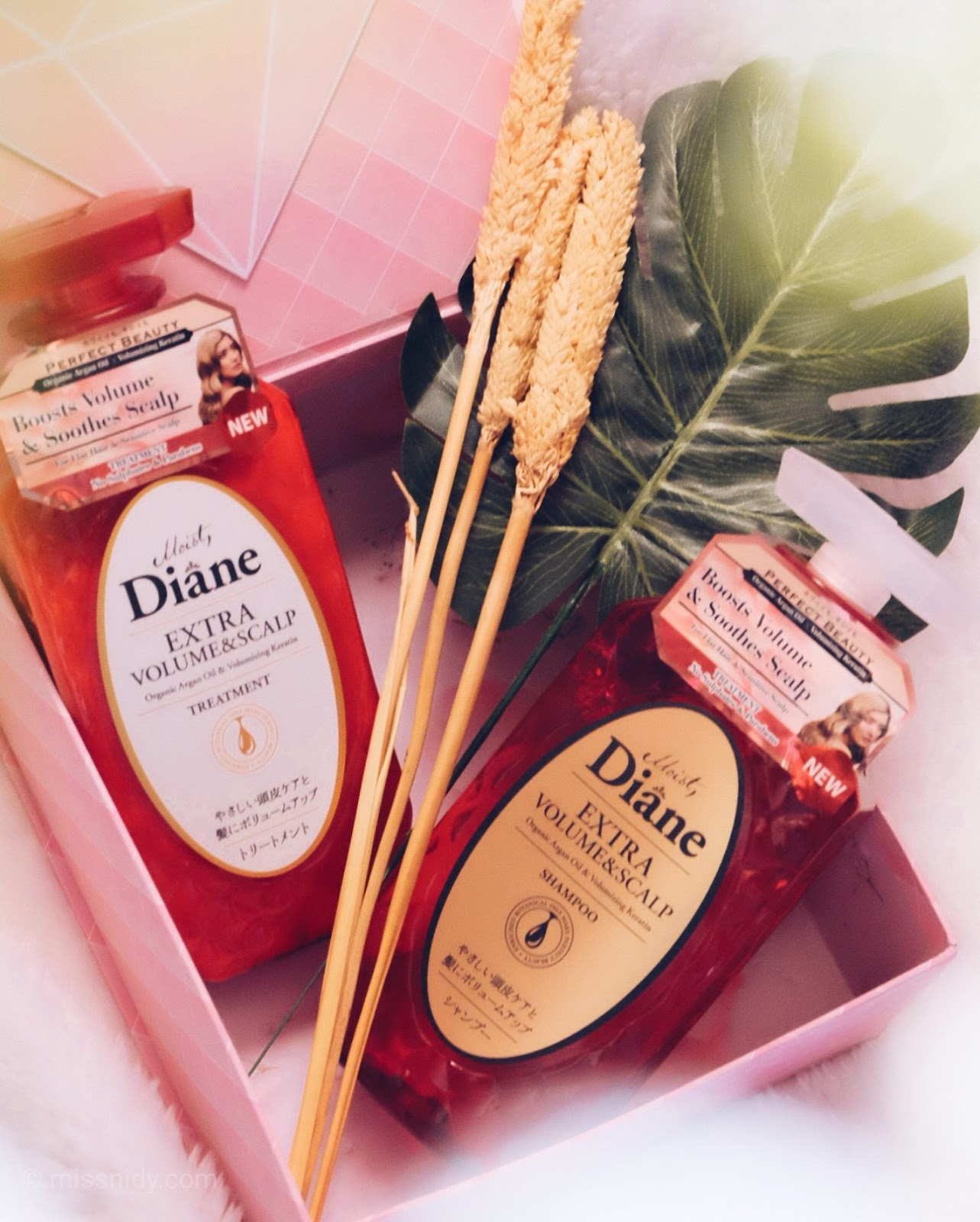 review pemakaian moist diane extra volume and scalp