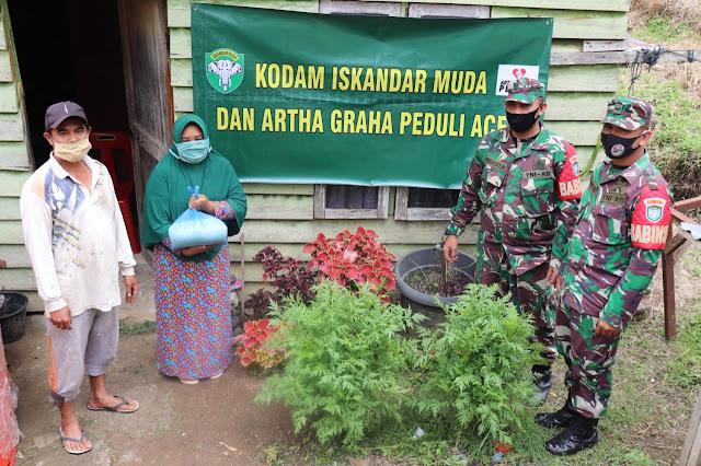 Koramil 01/Kota Kodim 0106 Salurkan Paket Sembako Kepada Masyarakat
