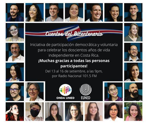 Mi participación en Cuentos del Bicentenario de Onda UNED
