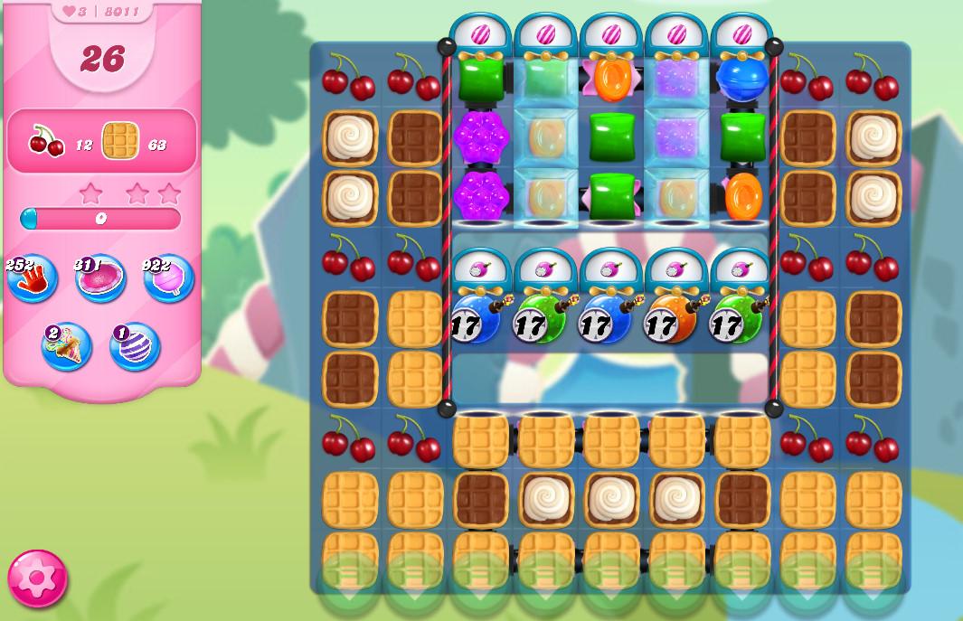 Candy Crush Saga level 8011
