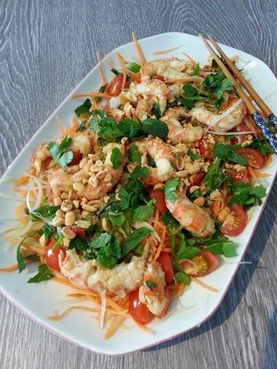Connu Cuisine en folie: Salade Thaï de papaye verte aux crevettes DO85