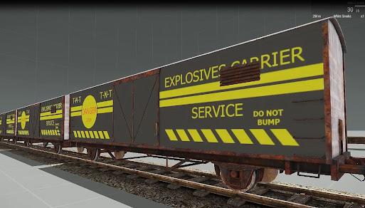 Arma3用の機関車を走行させられるMOD
