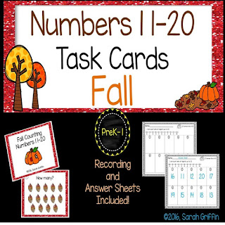 https://www.teacherspayteachers.com/Product/Fall-Math-Center-Task-Cards-Numbers-11-20-2798606