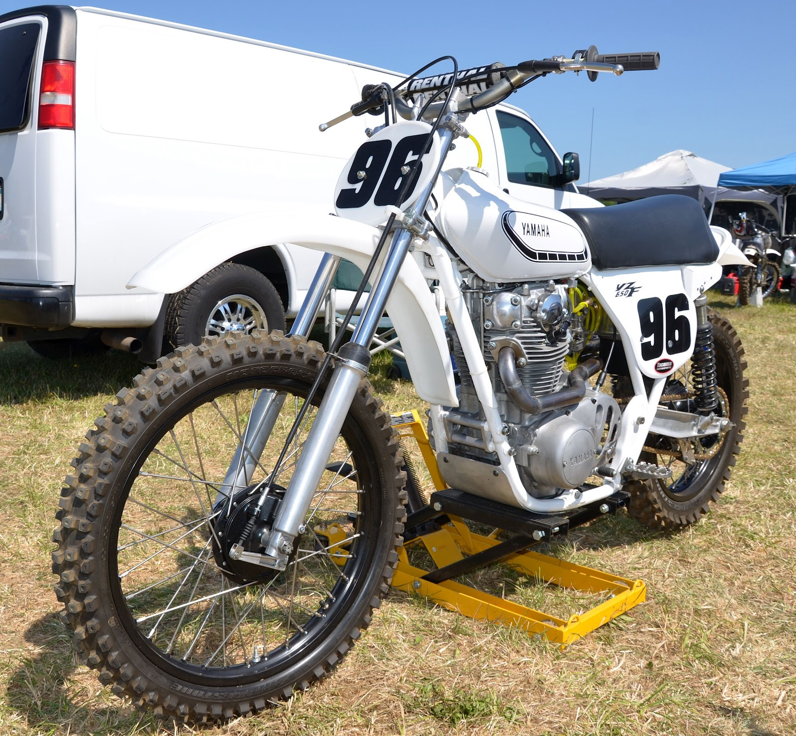 Even though this was a vintage motocross event, a few trials bikes around,  since they held the AHRMA vintage trials event the day before.