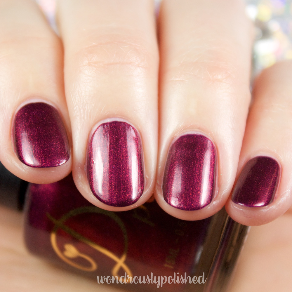 Delush Knights Of Thrones Swatches Wondrously Polished Bloglovin Jill Beauty Lip Matte 13 Purplish Plum Gentle Lion Is A Dark Mauve Crelly With Magenta And Copper Flakes Mixed In To Create An Elegant Finish Smooth Application I Needed 3 Coats