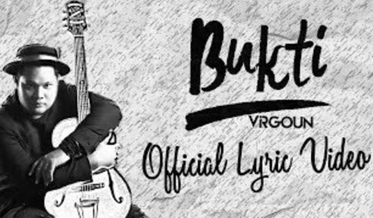 Lirik + Chord Original Kunci Gitar Bukti - Vigoun