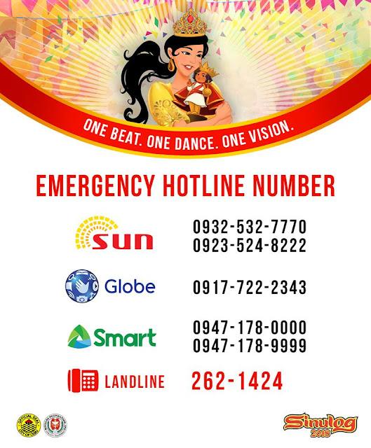 Sinulog 2018 Emergency Hotline
