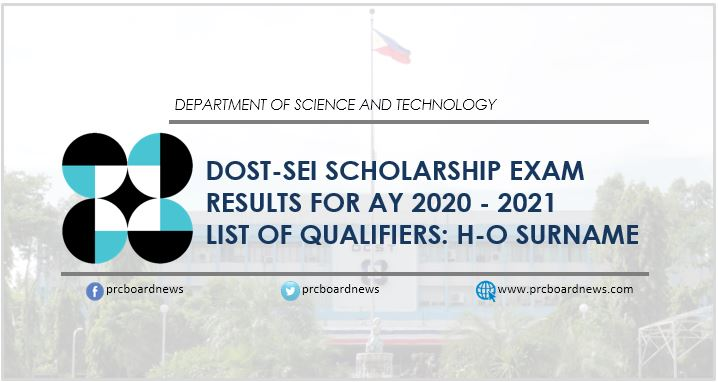 H-O Qualifiers: DOST Scholarship Exam Results 2020
