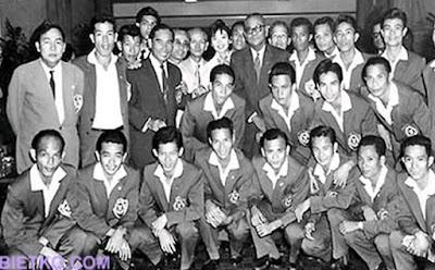 Các thành viên của Đội tuyển vô địch Seap Games 1959 của Việt Nam