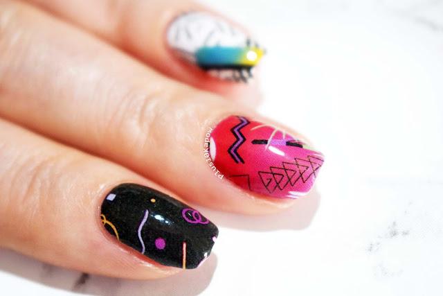 Espionage Cosmetics Blast from the Past nail wraps 80s 90s retro nails