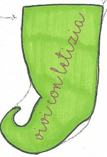 Cartamodello Calze della befana elfo - elf christmas stocking