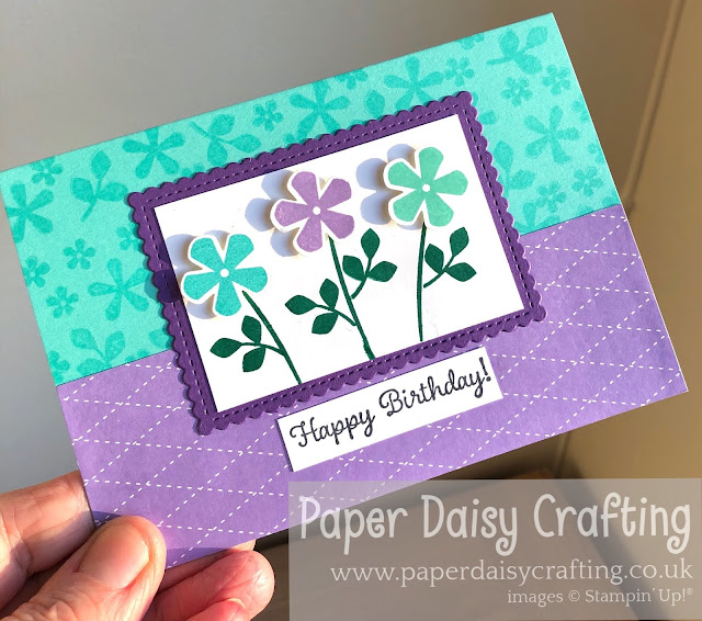 Thoughtful Blooms stamp set small bloom punch Stampin Up!