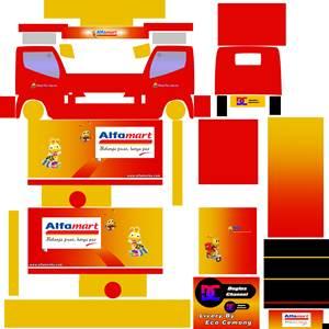 Livery Truck Canter Box Muhklas Alfamart