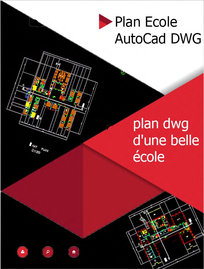 Projet plan ecole dwg book batiment architecture for Projet architecture pdf