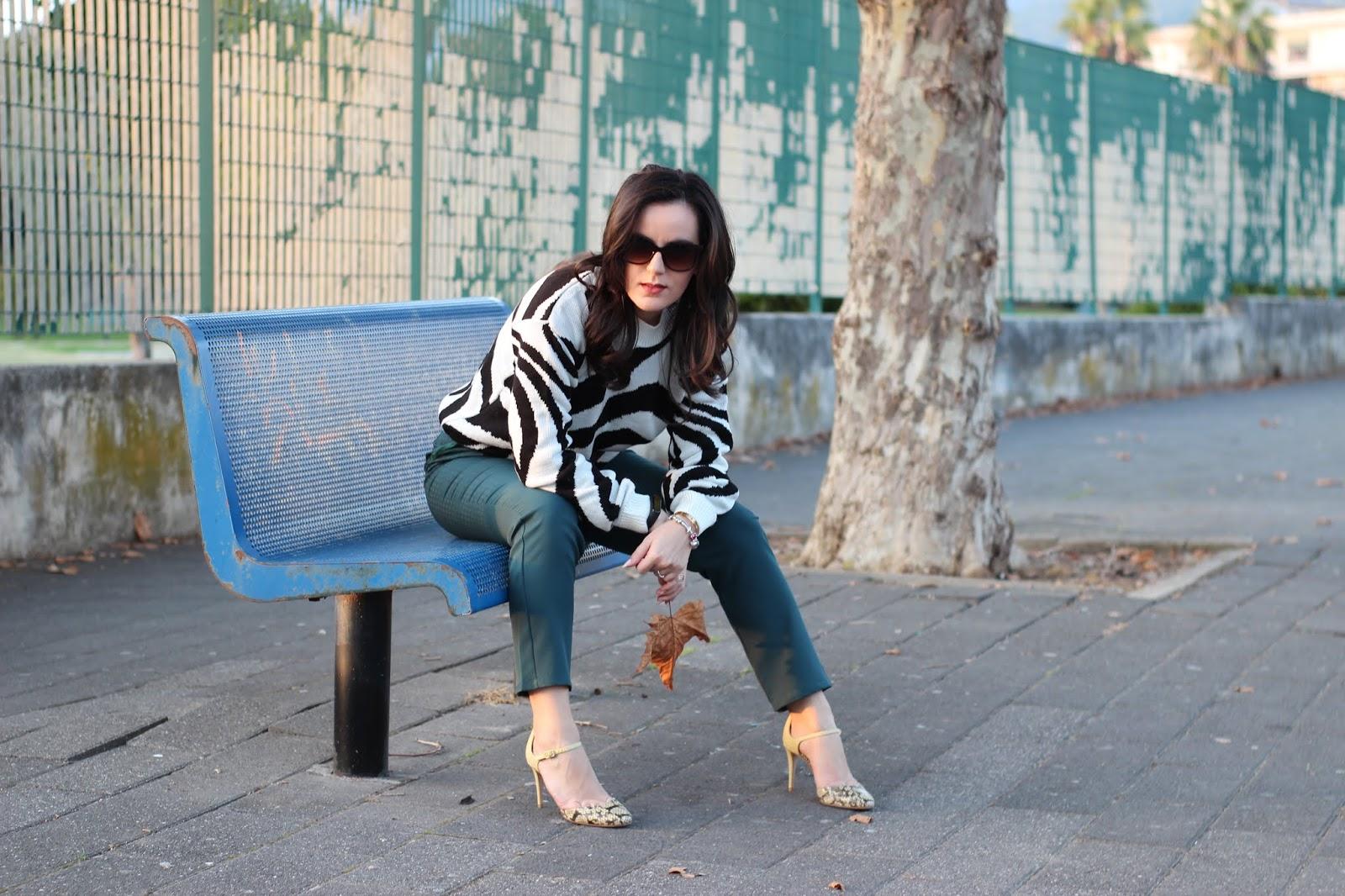 maglione zebra maglione bianco e nero