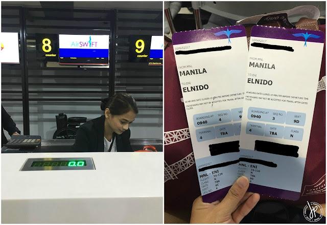 AirSWIFT Counter at NAIA Terminal 4 and boarding passes