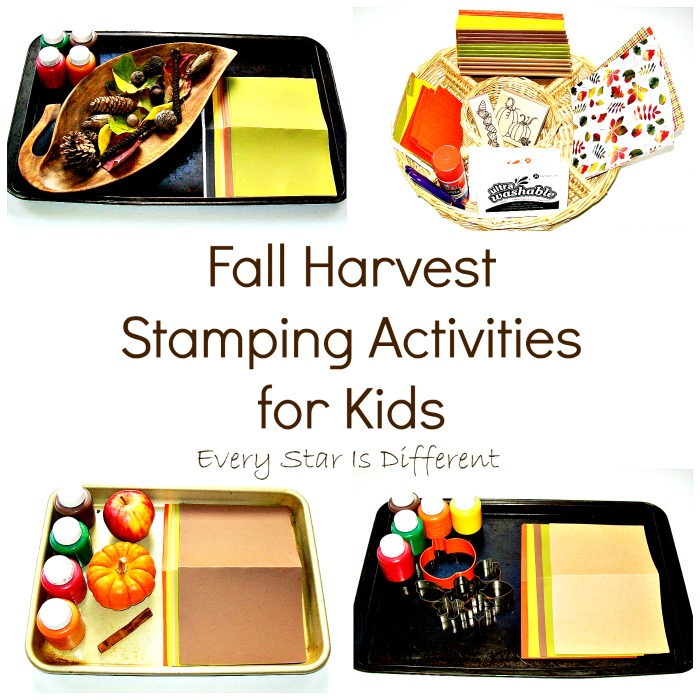 Fall Harvest Stamping Activities for Kids