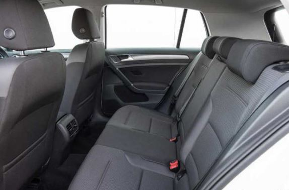 volkswagen e-gofl 2019 rear seats view