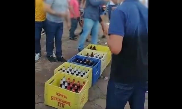 Jovens promovem festa com bebidas, paredão e aglomeração na Chapada Diamantina