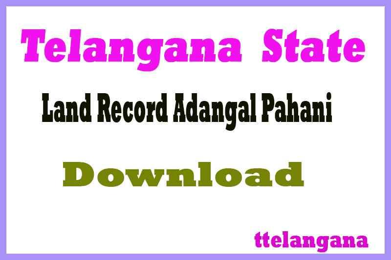 Telangana TS Land Record Adangal Pahani download