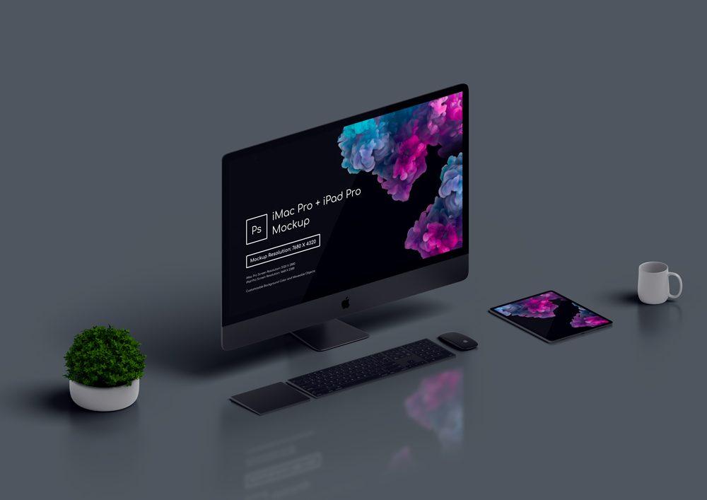 iMac Pro and iPad Pro Mockup