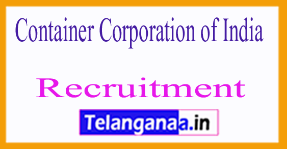 Container Corporation of India CONCOR Recruitment Notification 2017